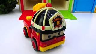 Jouets Robocar Poli. Vidéos Pour Enfants Avec Des Voitures Miniatures.