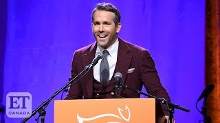 Ryan Reynolds Speaks At Michael J. Fox Parkinson's Fundraiser