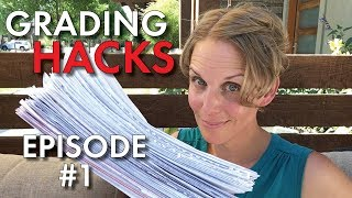 Grading Hacks #1 for Teachers, Manage & Grade Papers FASTER, Tips & Tricks, High School Teacher Vlog