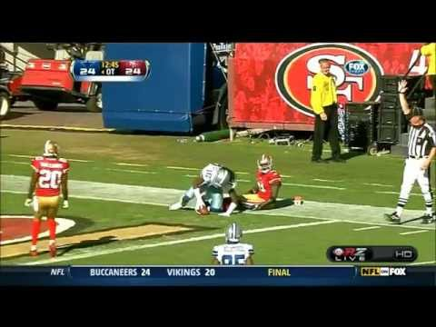 jesse holley's 77 yd reception and celebration to put the cowboys in fg range in overtime against the 49ers ( Wiz Khalifa - OTTR Off To The Races.