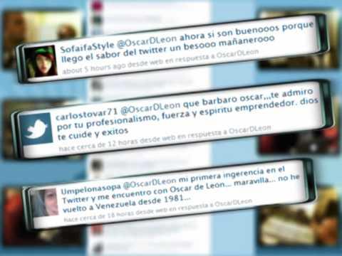Oscar D'León sings the twitter Salsa: Sígueme