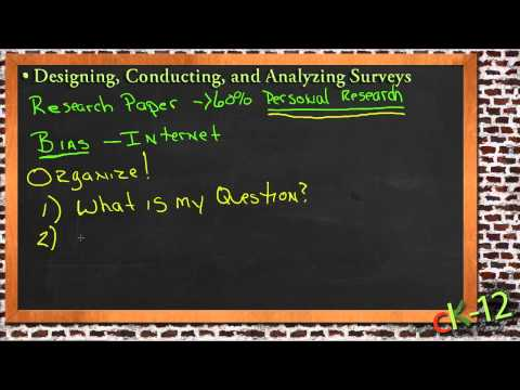 Designing, Conducting and Analyzing Surveys: A Sample Application