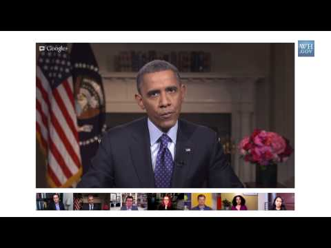 President Obama on Climate Change in a Google+ Hangout