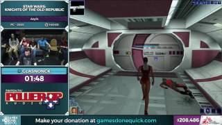 Star Wars: Knights of the Old Republic by glasnonck in 1:32:37 - SGDQ2016 - Part 47
