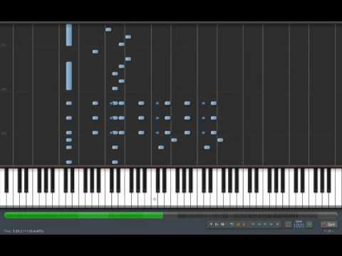 (Synthesia) Pirates of the Carribean piano tutorial [FULL]