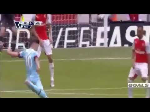 Arsenal vs West Ham 0 2 Goles 09/08/2015  HD