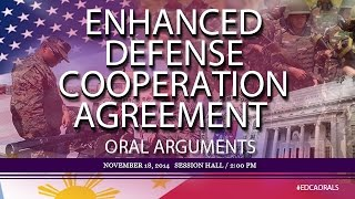 Enhanced Defense Cooperation Agreement (EDCA) Oral Arguments