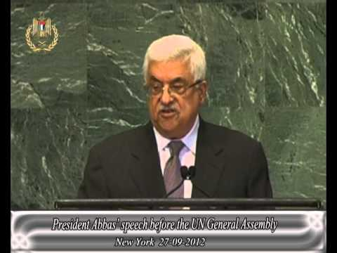 President Abbas' speech before the UN General Assembly