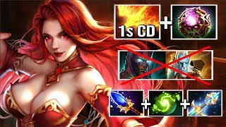 WTF 1 sec Dragon Slave +22% Spell Amp Lina Mid vs Hard Carry by Babyknight Epic Game 7.13 Dota 2