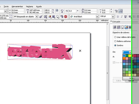 tutorial de como hacer un texto 3D en corelDRAW X3