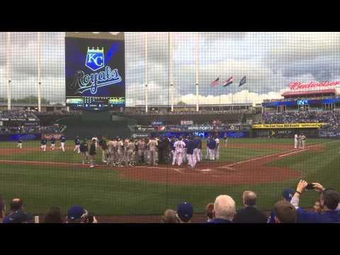 Kansas City Royals. Yordano Ventura Hits Brett Lawrie