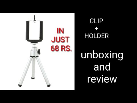 Best Mini Tripod For Mobile/DSLR Best Tripod Unboxing Review ||ON WISH||by CRAZY IDEAS.