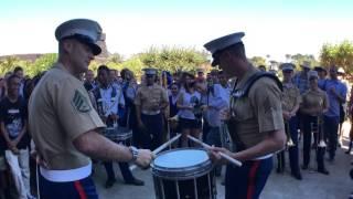#SFBandChallenge15: Benicia Drumline VS 1st Marine Division