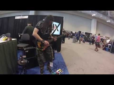 GOPRO video of Silas Fernandes from  São Paulo, Brazil. at Summer NAMM in Nashville Tennessee.
