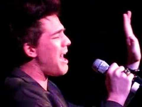 Adam Lambert Singing at the Upright Cabaret 3/28/08