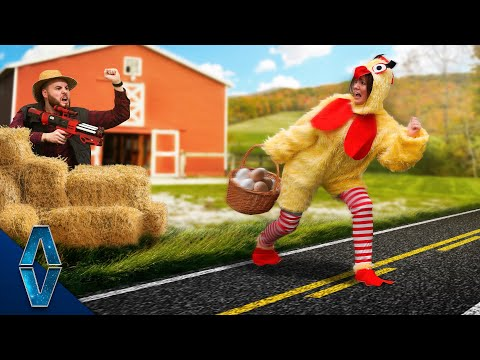 DON'T Let The Chicken Cross The Road Challenge!