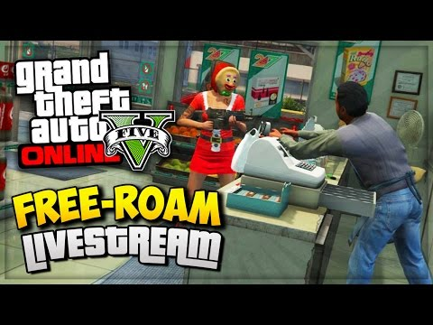 GTA 5 Online Christmas Special - GTA Heist Free Roam LIVESTREAM GTA Online PS4 (GTA V Gameplay)