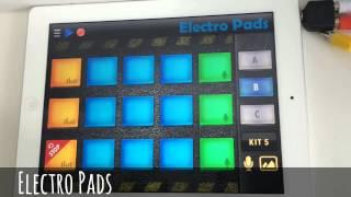 Bermain musik elektronik di Electro pads