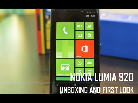 Nokia Lumia 920 - Unboxing and First Look