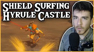 Can you Shield Surf Down ALL of Hyrule Castle? | Breath of the Wild