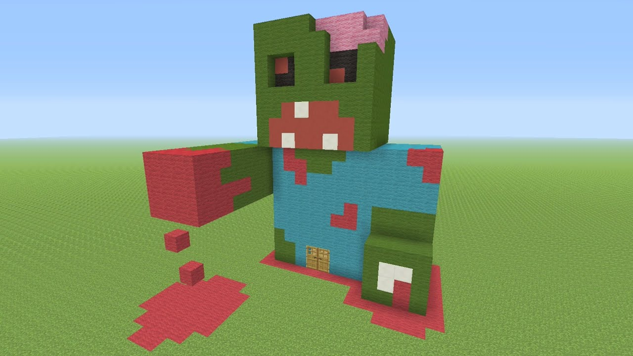 Zombie head minecraft pixel art 3726228 - printingbrochures.info on