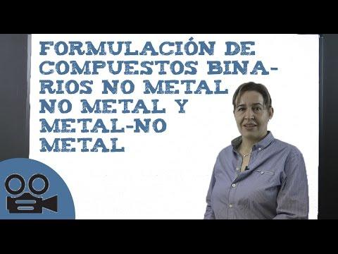 Formulación de compuestos binarios no metal no metal y metal-no metal