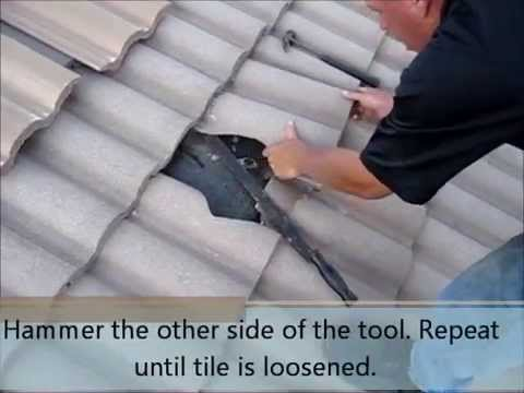 Walton Roofing Inc. (954) 962-9339 - How to replace a tile on a barrel top roof.