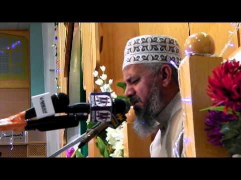 Mehfil E Naat Manchester 2013 Part 8 - Qari Karamat Ali Naeemi video