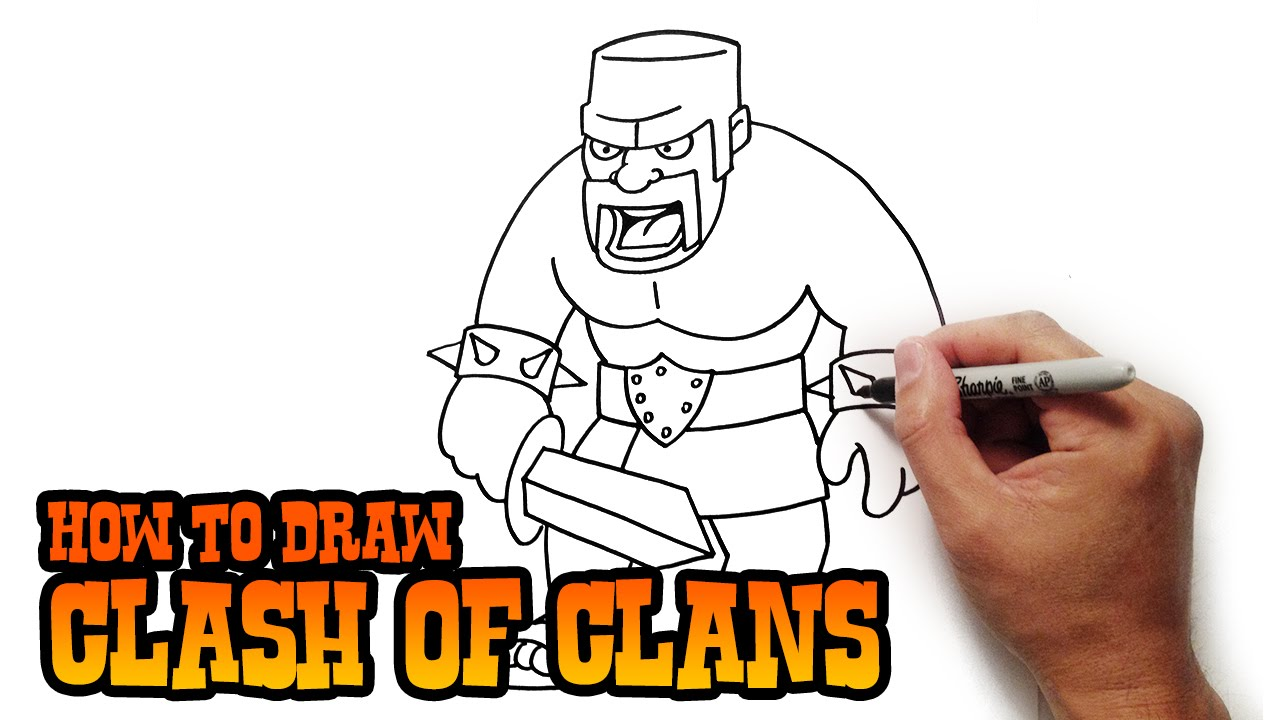 Clash of Clans Drawings How to Draw Barbarian Clash