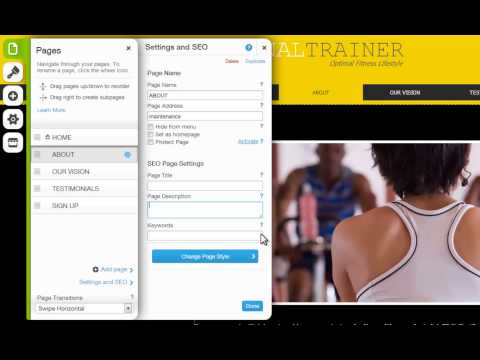 HTML Website Builder | Changing Your Page Settings in Wix.com