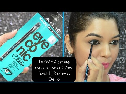 LAKME eyeconic Kajal 22 hrs   Swatch. Review & Demo