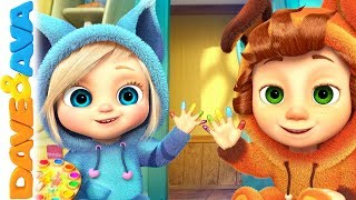 🎨 Learn Colors with Dave and Ava | Nursery Rhymes and Kids Songs 🎨