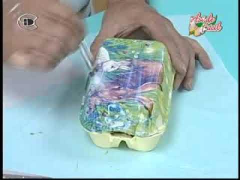 Manualidades Van Gogh   Caja de huevitos de pascua