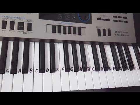 Jimmi jimmi jimmi aaja aaja aaja  Disco Dancer  Keyboard piano tutorial  Slowly played in end