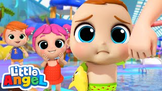 No, No, Don't Be Afraid of The Waterpark | Little Angel Kids Songs and Nursery Rhymes