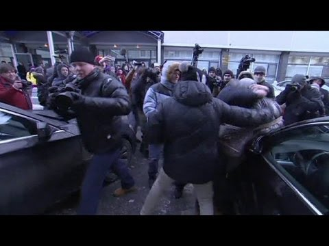 Russian protest against anti-gay law turns violent - no comment