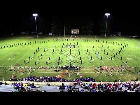 East Hall High School Viking Marching Band 09-26-2014 (East Hall Vs. Lumpkin County)