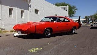 1969 Dodge Charger Daytona in Hemi Orange & 426 Engine Sound on My Car Story with Lou Costabile
