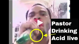 VIDEO: PROPHET ODUMEJE DRINKS ACID IN CHURCH LIVE