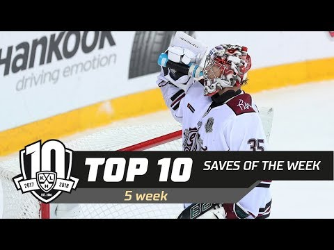 17/18 KHL Top 10 Saves for Week 5