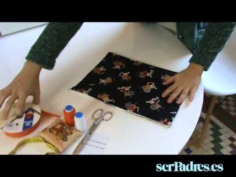 Manualidades aprende a hacer una bolsa para el beb youtube - Como hacer unas fundas para el sofa ...