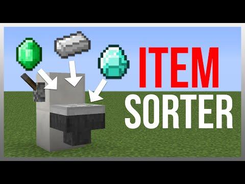 Minecraft 1.9: Redstone Tutorial - Item Sorter (Hidden)