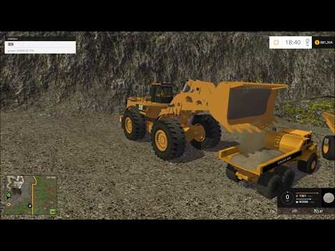 Farming simulator 2015 mining, Hauling to the wash plant!!