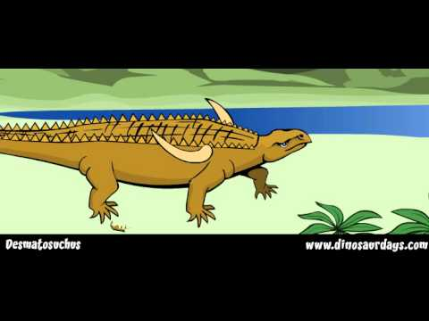 DESMATOSUCHUS - the triassic period