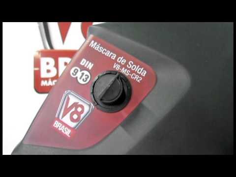 Máscara de Solda CR2 com regulagem V8 Brasil
