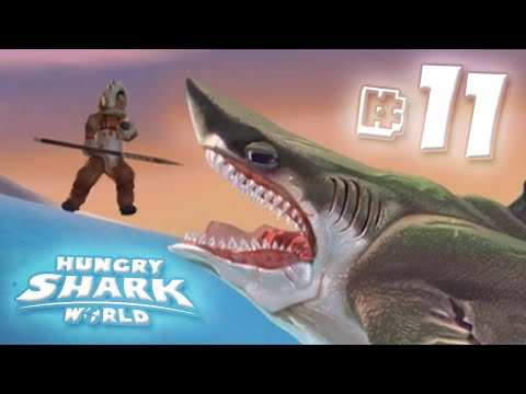 Megalodon In The Arctic!! - Hungry Shark World | Ep11 HD
