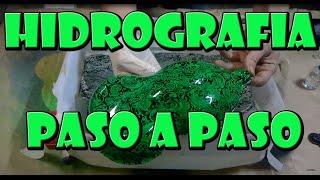 TUTORIAL HIDROGRAFIA CASERA - COMO HACER HIDROIMPRESION EN CASA. water transfer