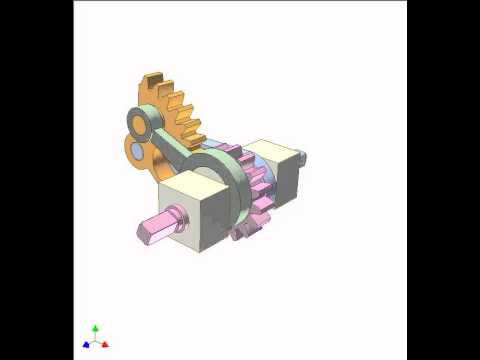 Gear and linkage mechanism 16