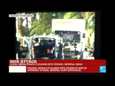 France: Truck ploughs into crowd in Nice during Bastille Day celebrations, several dead
