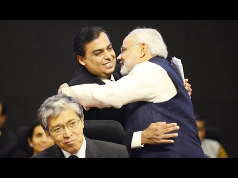 "Mukesh Ambani lauds PM Mod in ""Make in India"" event"